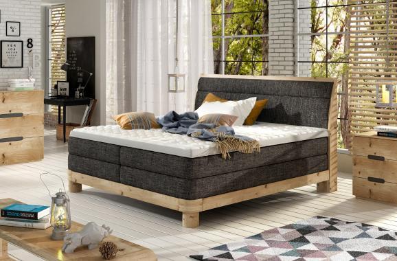 CARILLO kvalitná boxspring posteľ v drevenom ráme | 3 rozmery