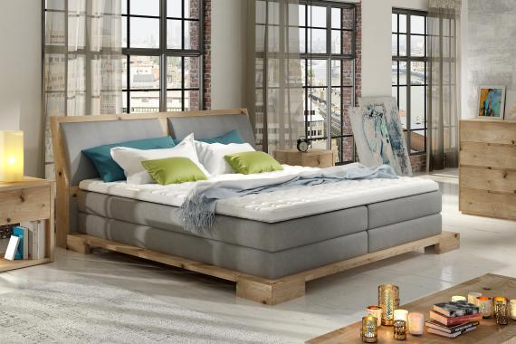 PALETTE boxspring postel v dřevěném rámu | 3 rozměry