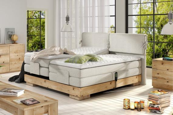 KOMFORT kontinentální postel s elektrickým polohováním | 3 rozměry