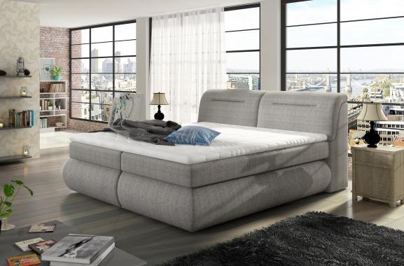 LEROI boxspring posteľ s úložným priestorom z masívu | 3 rozmery