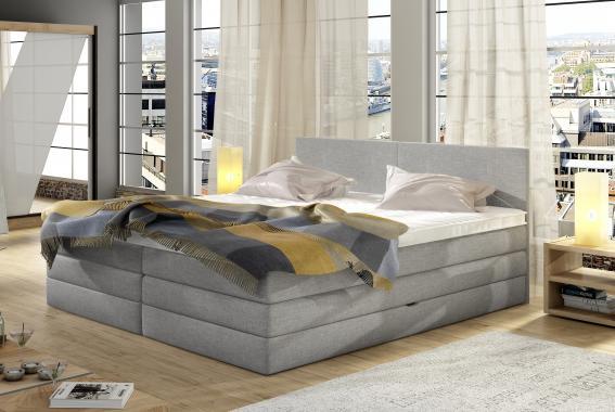 ELEANOR boxspring postel s úložným prostorem | 3 rozměry