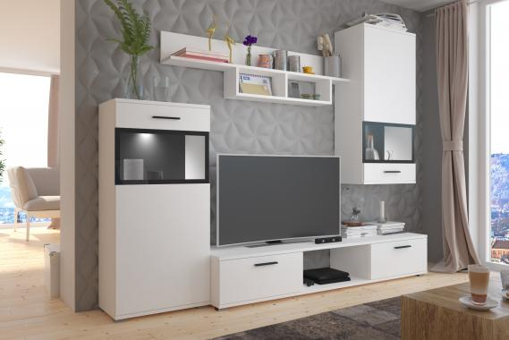 PIANO obývací stěna, bílá