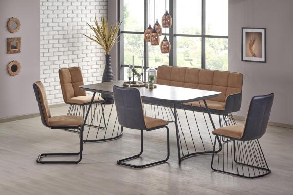 DENVER jedálenský stôl v industriálnom dizajne