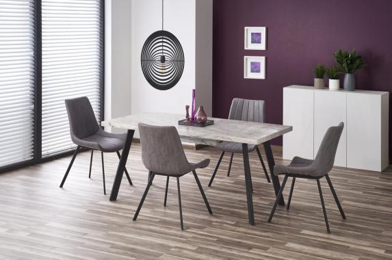 OMAHA mramorový jedálenský stôl v industriálnom dizajne