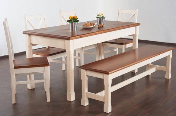 MONACO jedálenský stôl z masívneho dreva | vidiecky štýl