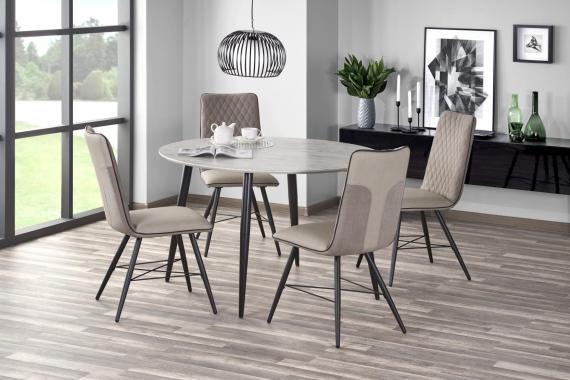 GELATO kulatý mramorový jídelní stůl v industriálním designu