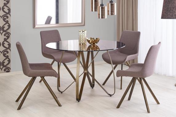 GLASGOW okrúhly sklenený jedálenský stôl