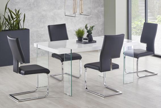MIKE dizajnový jedálenský stôl s bielou doskou