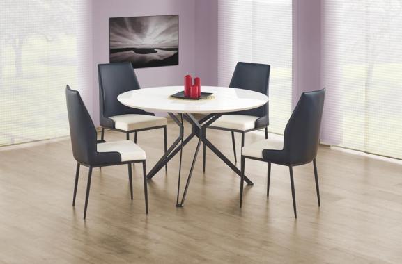 MIDLETON okrúhly jedálenský stôl v bielom dekore