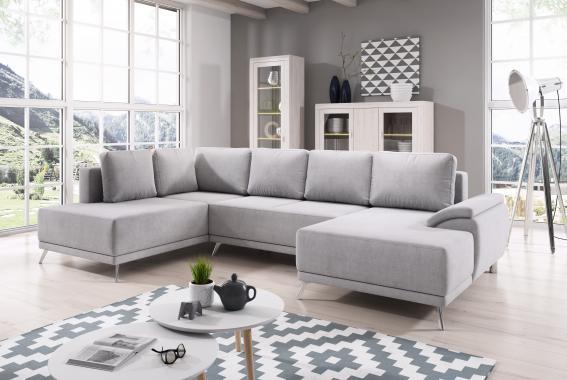 SUSAN elegantná rozkladacia sedačka v tvare U s úložným priestorom| DOPREAJ