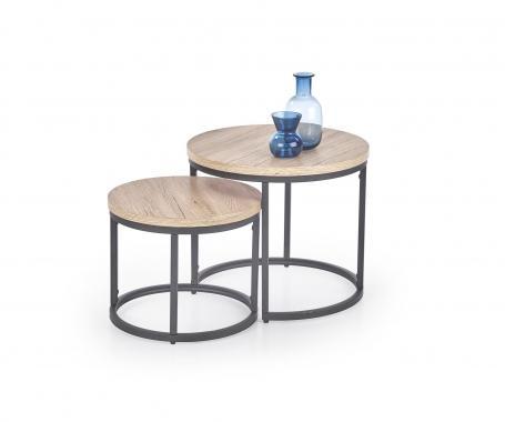 OREO kulatý konferenční stolek v industriálním stylu
