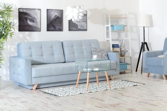 ROSE rozkládací pohovka s úložným prostorem ve skandinávském stylu