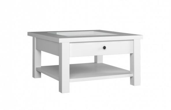 EAST bílý konferenční stolek s šuplíkem