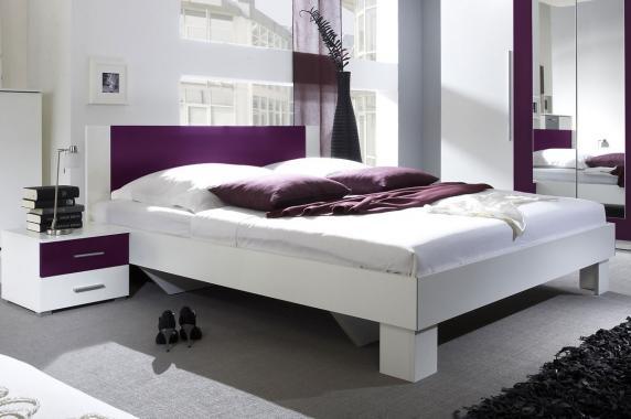 JASMINE manželská postel s nočními stolky | 6 dekorů