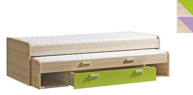 LORENTO L16 detská posteľ s prístelkou a úložným priestorom | 2 dekory