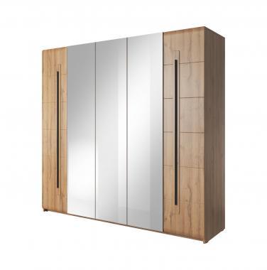 SULTAN veľká šatníková skriňa 225 so zrkadlom   2 dekory