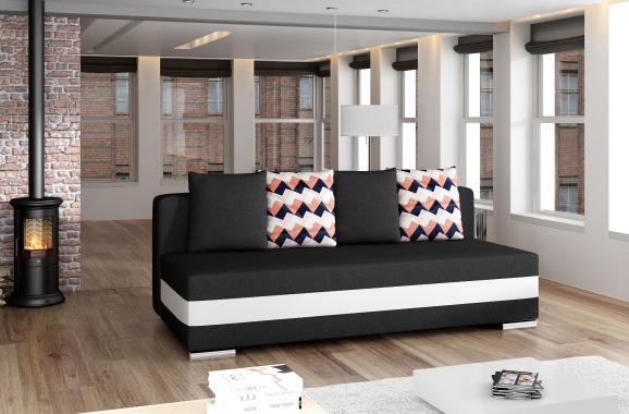 EDWARD 2,5-Sitzer Sofa mit Schlaffunktion, Stauraum und Kissen, armlehnenlos