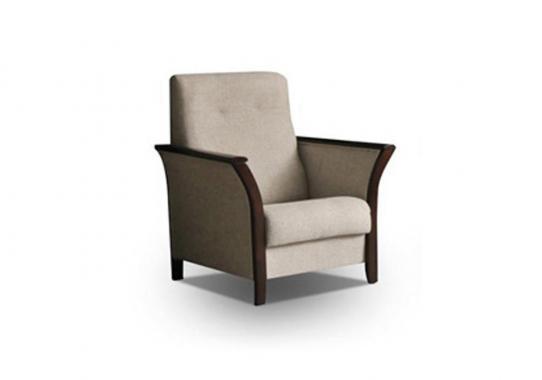 VELVET Sessel mit Stauraum und Holzelementen