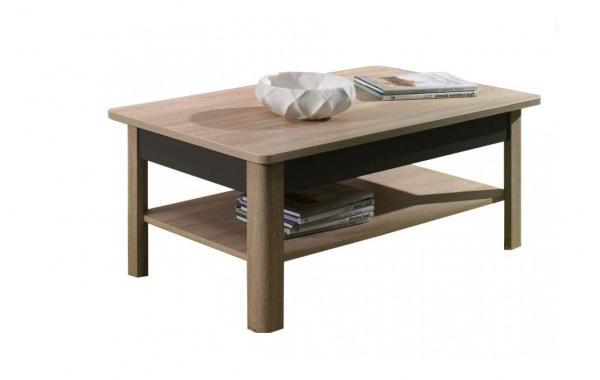 TIMBER 7 obdélníkový konferenční stolek se dvěma patry