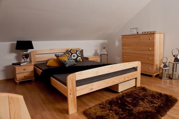 TADEÁŠ drevená posteľ z masívneho dreva | 5 rozmerov