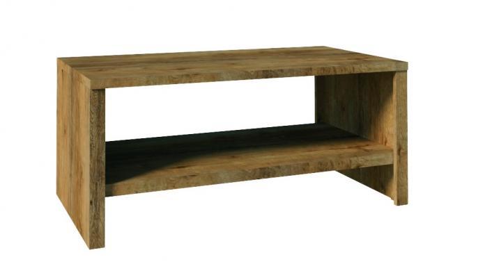 MOLLY obdélníkový konferenční stolek se dvěma patry