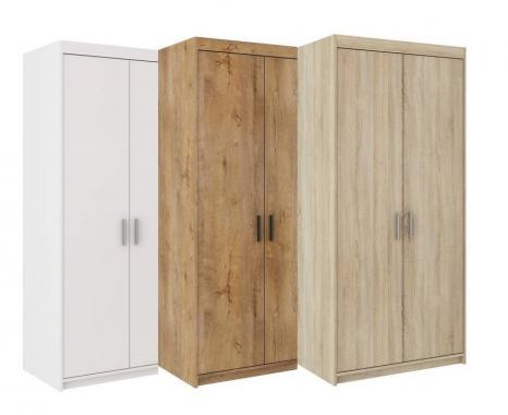 ALENA 2D malá dvoudvéřová šatní skříň s policemi | 3 dekory