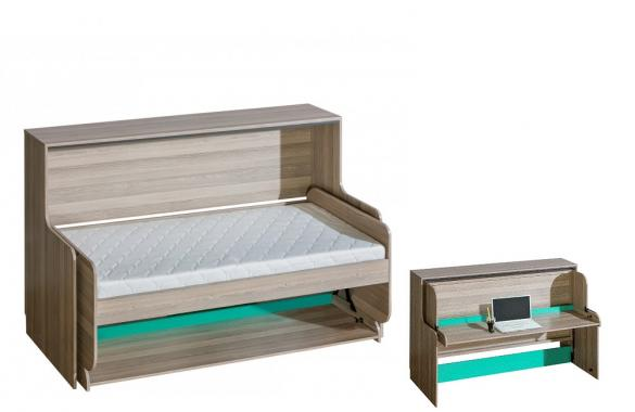 SAMUEL SM16 dětský psací stůl/sklopná postel