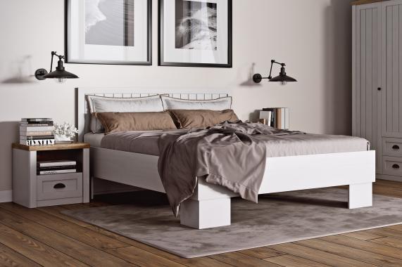 FRANCE manželská posteľ 160x200 v provensálskom štýle