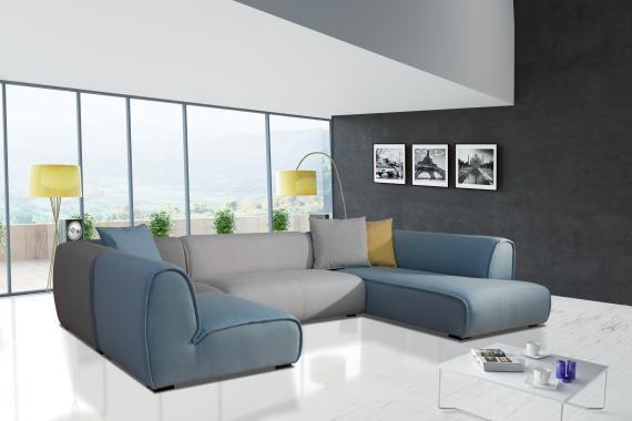 AMARELLO moderná dizajnová sedacia súprava v tvare U, modulový systém