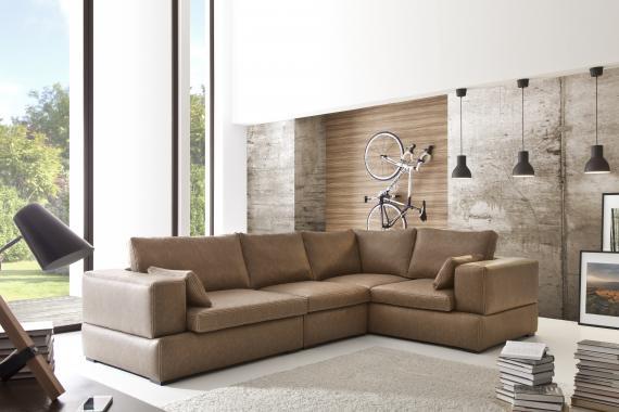 ALVARES luxuriöses Ecksofa mit Kissen, modulares Sofasystem