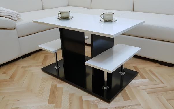 AGAMY konferenční stolek s LED osvětlením