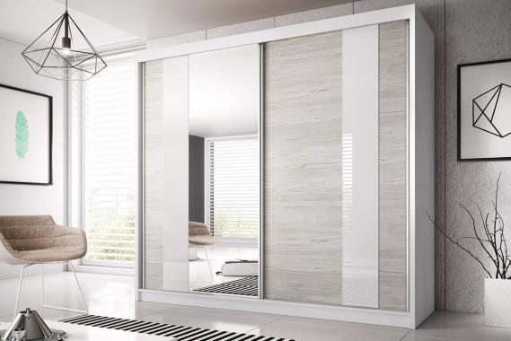 MULTI 32 šatní skříň se zrcadlem a posuvnými dveřmi | 3 rozmery