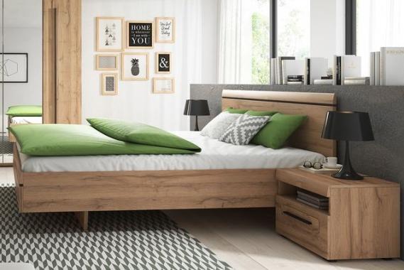 SULTAN moderná manželská posteľ v dekore dub grandson | 2 rozmery