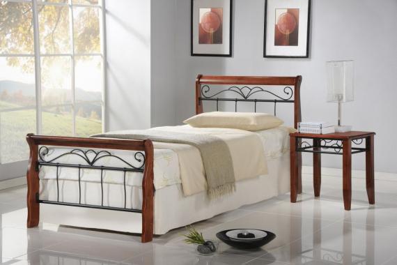 VERONICA kovová postel 90x200 s roštem