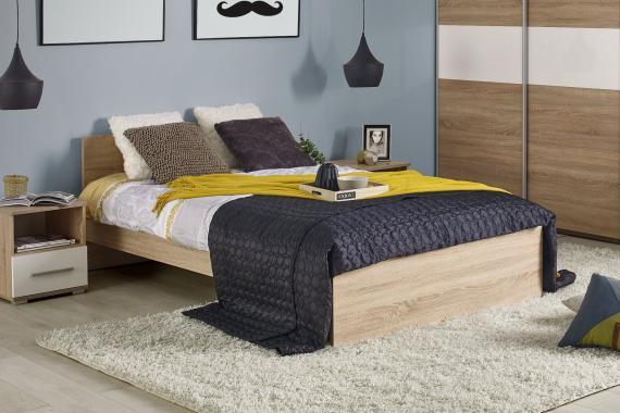 RIVER moderní postel v dekoru dub sonoma | 3 rozměry