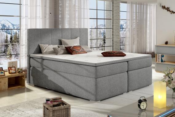 BOLERO boxspring posteľ s úložným priestorom | 3 rozmery