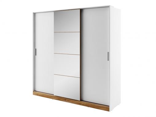 Dentro veľká biela šatníková skriňa s posuvnými dverami