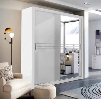 IDEA ID-12 šatníková skriňa so zrkadlom a posuvnými dverami
