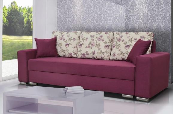 FLORIANA rozkladacia pohovka s úložným priestorom, kvetinový vzor