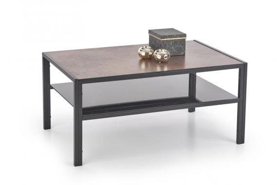OMEGA konferenčný oceľový stolík s imitáciou kameňa