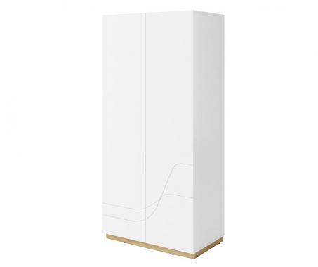 WAVE WA-01 moderná biela šatníková skriňa