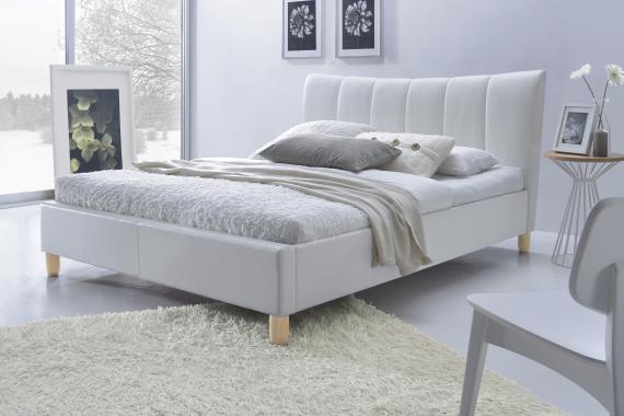 SANDY čalouněná manželská postel 160x200 s roštem