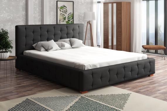 MELANIA čalouněná postel s vysokým čelem