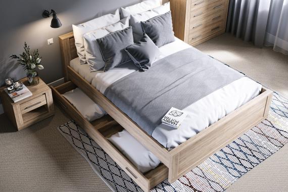 IDEA ID-08 manželská postel s roštem | 2 rozměry