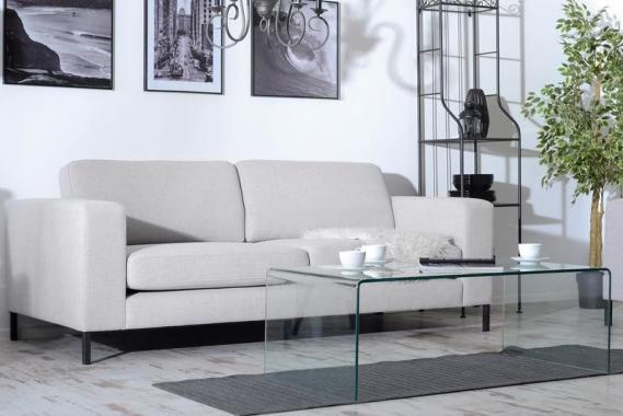 TIMEA 2,5-Sitzer Sofa, sehr weich, hohe Metallfüße