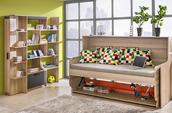SAMUEL dětský psací stůl/sklopná postel s nástavcem | VÝPRODEJ