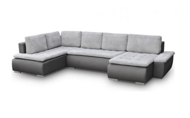 TORINO U rozkladacia sedacia súprava v tvare U s úložným priestorom