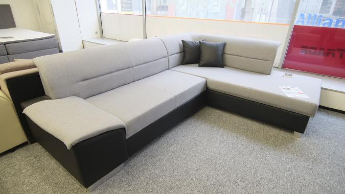 INFINITY rohová sedací souprava s úložným prostorem a rozkládací funkcí - výprodej