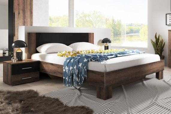 JASMINE manželská posteľ 180x200 s nočnými stolíkmi | 6 dekorov
