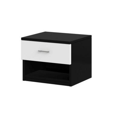 ALEX nočný stolík, čiernobiely dekor